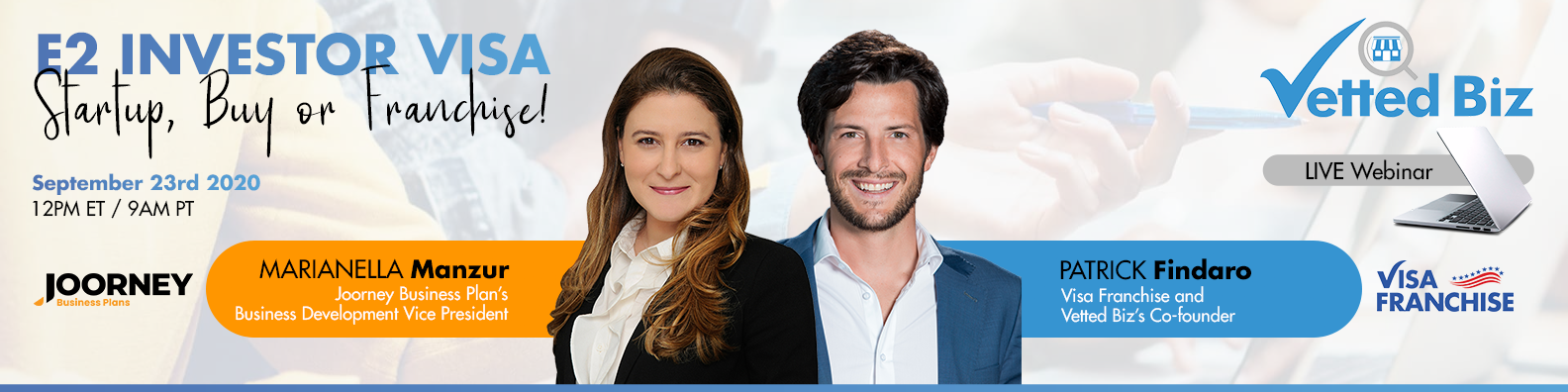 Webinar - E2 Investor Visas - Visa Franchise and Vetted Biz